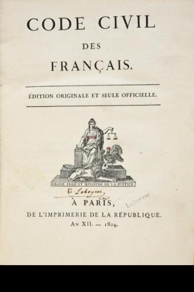 Code civil francais